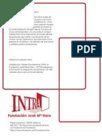 Acuerdo de la Fundación INTRA con RafelvalSL - Invernalia