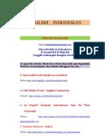 English Indonesian