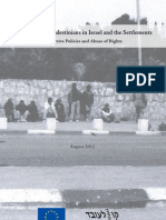 Employment of Palestinians in Israel and the Settlements