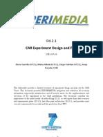 D4.2.1 CAR Experiment Design and Plan v.1.0