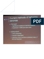 Current Methods of Reducing Seromas