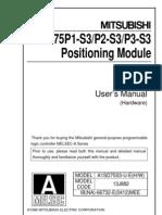A1SD75P 1 2 3 S3 UserManual Hardware IB 66732 E