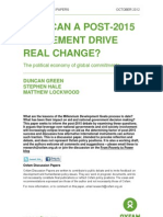 How Can a Post-2015 Agreement Drive Real Change? The political economy of global commitments