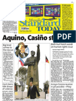 Manila Standard Today -- Saturday (October 27, 2012) issue