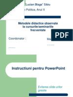 Instructiuni Prezentare PowerPoint