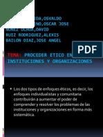 Procedimientos de ética en las instituciones y organizaciones. (1)