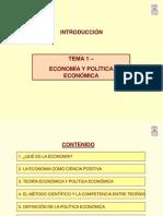 Tema 1-ECONOMÍA Y POLÍTICA ECONÓMICA
