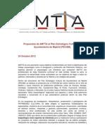 Propuestas de AMTTA al PECAM 2012