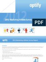 Optify 2012 b2b Marketing Athlete Report