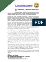 Carta presentació grup de consum a la CGT