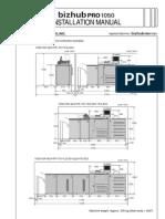 Installation Manual Bizhub Pro 1050