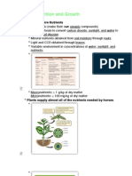 Plant Nutrition and Growth