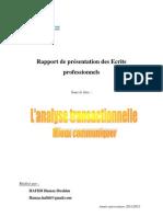 Analyse Transactionnelle - Mieux Communiquer