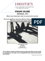 Christie's New York - Franz Kline's Most Important Work Ever Presented At Auction