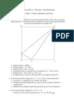 DS 3 - Fonctions et géométrie plane