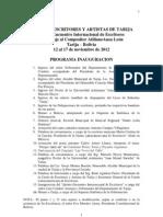 PROGRAMA, 5º ENC. INTERN. ESCRIT. 2012 (1)