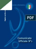 Comunicato n.1 - stagione 2012/2013