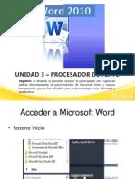 3. Procesador de Texto Word