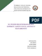 Trabajo de Teologia, Espiritu Santo en El a.t.
