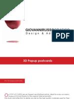 3D Popup Kirigami Brochure