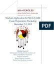 2012 Spirit of Eagles, MCAT/GRE Workshop