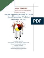 2012 Spirit of Eagles, MCAT/GRE Workshop