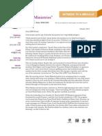 CJF Ministries October 2012 Newsletter