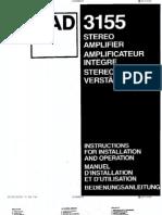 NAD 3155 Manual