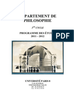 Brochure Licence Philo 11-12