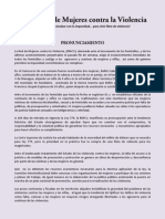 Pronunciamiento Ante Incremento de Femicidios RMCV 2012