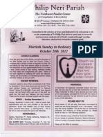 Bulletin for October 27-28, 2-12