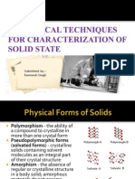 Analytical Techniques for Characterization of Solid State