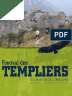 Festival Des Templiers 2012. Programme.