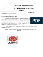 Comunicado Desahucios Calle Extremadura