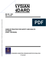 MS426 Code of Practice for General Principles for Safe Working in Industry