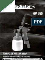 Manual Equipo Gladiator HV 650