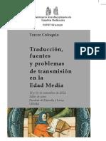 Programa del III Coloquio del Seminario Interdisciplinario de Estudios Medievales