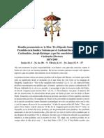 homilía de la Misa Pro Eligendo Summo Pontifice que presidió en la Basílica Vaticana