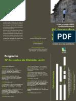 IV Jornadas de História Local - Programa e Ficha de inscrição