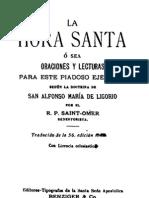 La Hora Santa-San Alfonso Maria de Ligorio