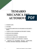 Temario de Mecanica Del Automovil