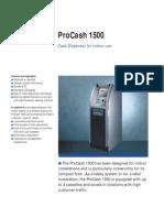 Wincor ProCash 1500 Technical Data