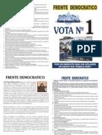 PROPUESTAS FRENTE DEMOCRATICO ELECCIONES SUTESAL 2012