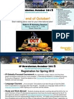 International Plan Newsletter, October 2012