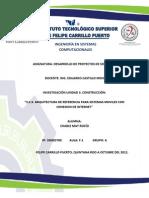 3.2.3. Arquitecturas de Sistemas Moviles