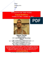 Crime and Fugitive of the Week 10/25- 10/31