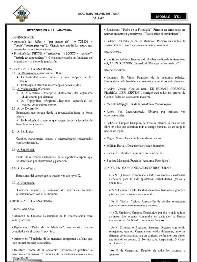 ANATOMIA - MODULO I