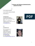 16- Denuncio más Crímenes del Sistema Administrativo Laboral de USA