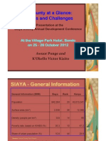 Ponge - K'Okello - Siaya County Development Conference Presentation