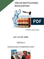 Legislacion en Instituciones Reeducativas